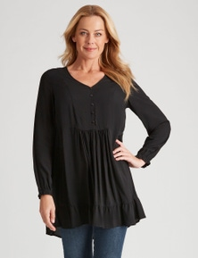 Rivers Long Sleeve Button Detail Tunic