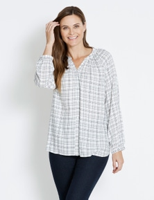 Rivers Button Thru Notch Neck Shirt