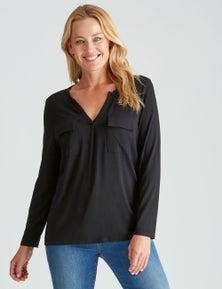 Rivers Long Sleeve Jersey Pocket Shirt