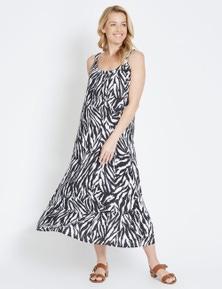 Rivers Sleeveless Button Shoulder Maxi Dress