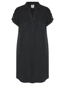 Rivers Short Sleeve Shirt Style Lyocell Midi Dress