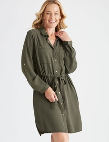 Rivers Long Sleeve Lyocell Midi Dress