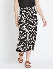 Rivers Button Through Maxi Skirt
