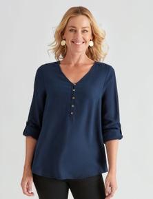 Rivers 3/4 Sleeve Button Plackett Lyocell Shirt