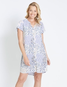 Rivers Short Sleeve Button Thru Midi Dress