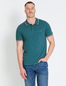 Rivers Tipped Pique Polo
