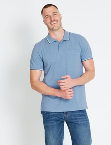Rivers Short Sleeve Core Tipped Pique Polo