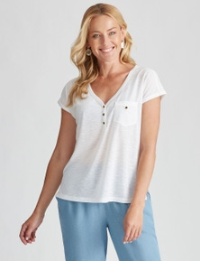 Rivers Pocket Front Button Tee