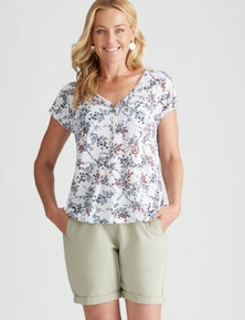 Rivers Short Sleeve Pocket Front Button Tee