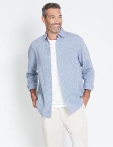 Rivers Long Sleeve Gingham Linen Shirt