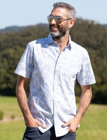 Rivers Short Sleeve Cotton Print Shirt