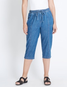 Rivers elastic waist crop jean