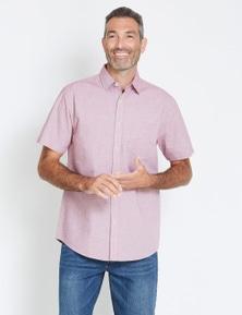 Rivers Short Sleeve Horizontal Stripe Cotton Shirt