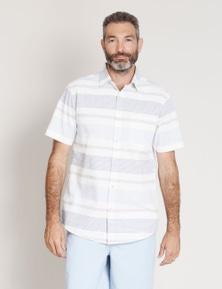 Rivers Short Sleeve Horizontal Stripe Shirt