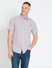 Rivers Short Sleeve Triple Gingham Check Shirt