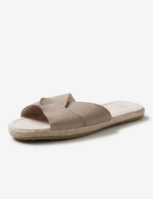 Rivers Leathersoft Interwoven Espadrille Mule