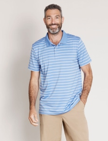 Rivers Short Sleeve Stripe Golf Polo
