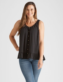 Rivers Sleeveless Button Thru Tank
