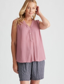 Rivers Short Sleeve Crinkle Top