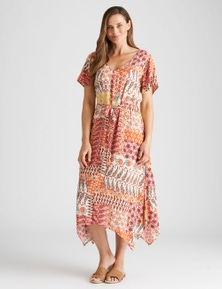 Rivers Short Sleeve Hanky Maxi Dress