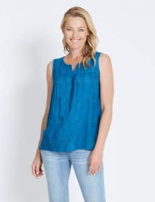 Rivers Sleeveless Broderie Boho