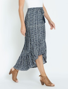 Rivers Textured High Low Skirt