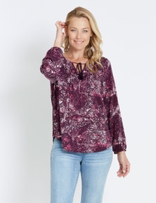 Rivers Long Sleeve Pleat Gypsy Shirt