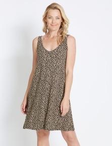 Rivers Sleeveless Lattice Back Jersey Dress