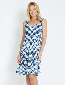 Rivers Sleeveless Button Tiered Jersey Midi Dress
