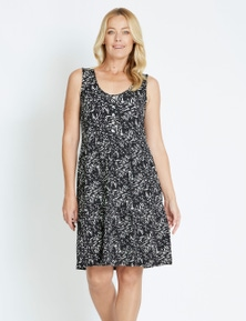 Rivers Sleeveless Button Tiered Jersey Dress