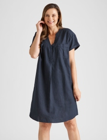 Rivers Linen Blend Pocket Dress