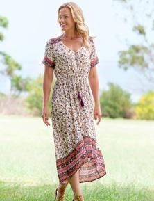 Rivers Textured Boho Maxi Dress