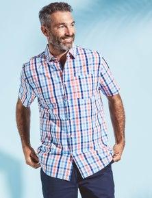 Rivers Short Sleeve Cotton Check Shirt