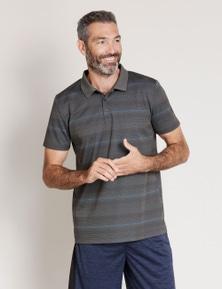 Rivers Short Sleeve Jacquard Pattern Golf Polo