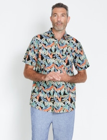 Rivers Short Sleeve Printed Cotton Shirt