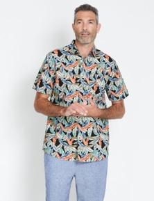 Rivers Short Sleeve Printed Cotton Shirt