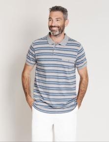 Rivers Short Sleeve Jersey Stripe Polo
