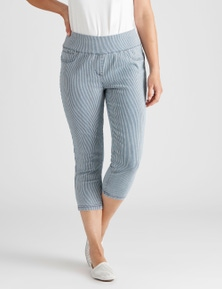 Rivers Stripe Comfort Crop Jean