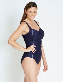 Rivers Ruched Textured One Piece