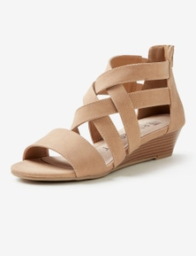 Rivers Riversoft Strappy Zip Wedge