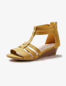 Riversoft Strappy Zip Wedge Sandal