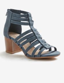 Riversoft Block Heel Zip Sandal