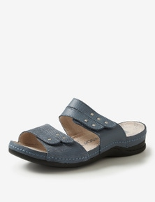 Rivers Leathersoft Double Strap Studded Mule