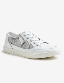 Rivers Leathersoft Lace Up Snake Sneaker