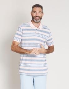 Rivers Short Sleeve Birdseye Stripe Polo