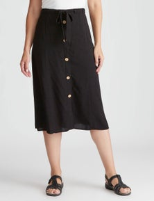 Rivers Button Front Maxi Skirt