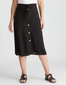 Rivers Button Front Midi Skirt