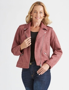 Rivers Suedette Biker Jacket