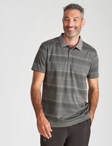 Rivers Performance Jacquard Stripe Polo
