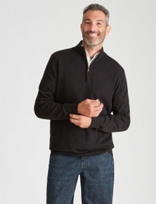 Rivers Cotton Zip Neck Jumper